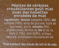 Cruesli miel et noisettes - Ingrediënten - fr