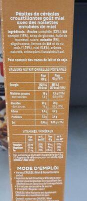 Cruesli miel et noisettes - Voedingswaarden - fr
