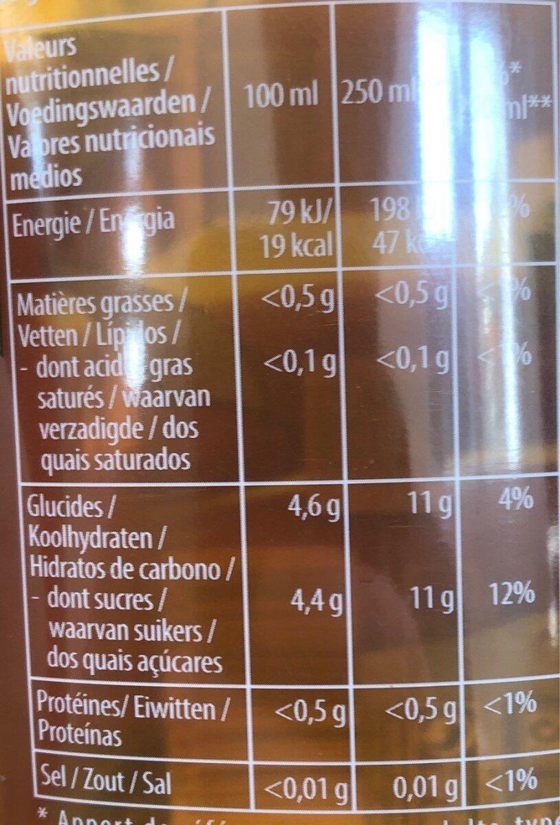 Pure Leaf Thé infusé glacé bio saveur pêche de Méditerranée 1 L - Nutrition facts - fr