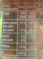 Thé infusé glacé - Informations nutritionnelles - fr