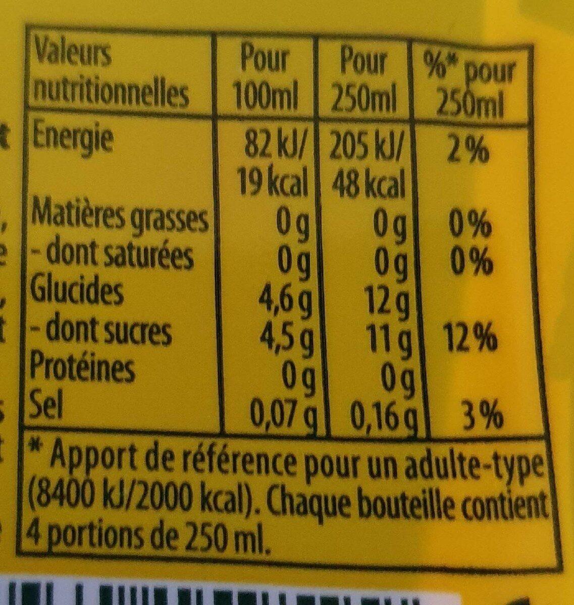 Lipton Ice Tea saveur mangue lot de 2 x 1 L - Valori nutrizionali - fr