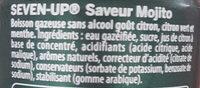 SEVEN UP saveur Mojito - Ingrédients - fr