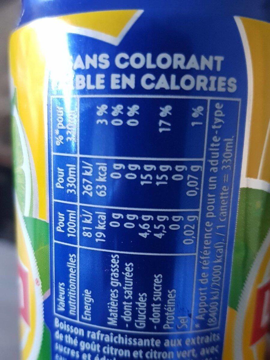 Ice tea citron vert - Nutrition facts