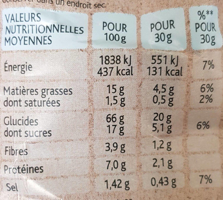 Plaisir Brut Croustillants patate douce, papika - Nutrition facts - fr