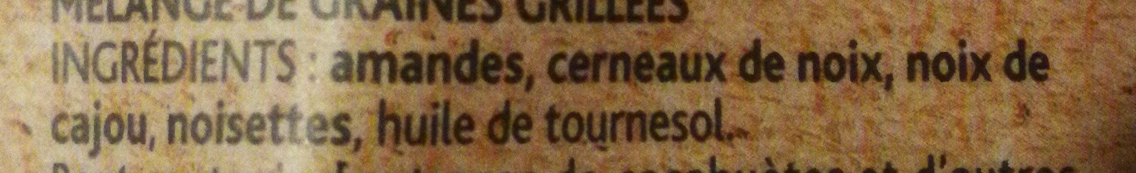 Plaisir brut non salé Mélange de noix - Ingrediënten - fr