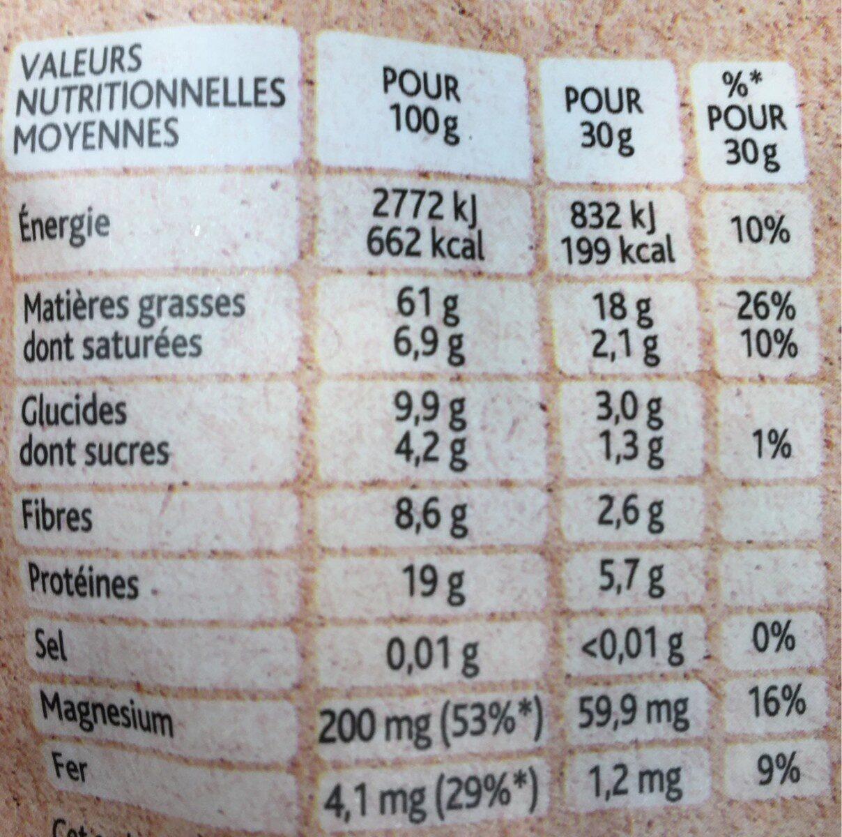 Plaisir brut non salé Mélange de noix - Voedingswaarden - fr