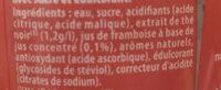 Ice Tea - Framboise et fleur de cerisier - Ingredienti - fr