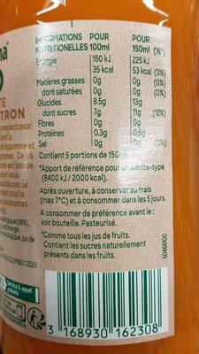 Tropicana bio carotte orange citron - 9