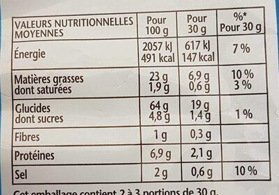 Cheetos goût fromage - Valori nutrizionali - fr
