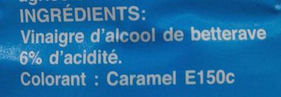 Vinaigre d'alcool coloré 6° - Ingrediënten