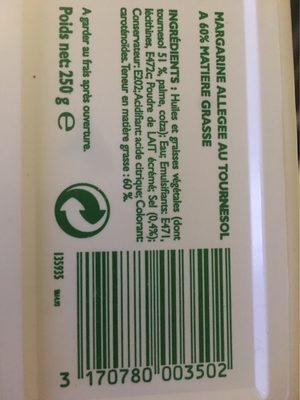 Beurre Pour Tartiner Et Cuisiner - Informations nutritionnelles