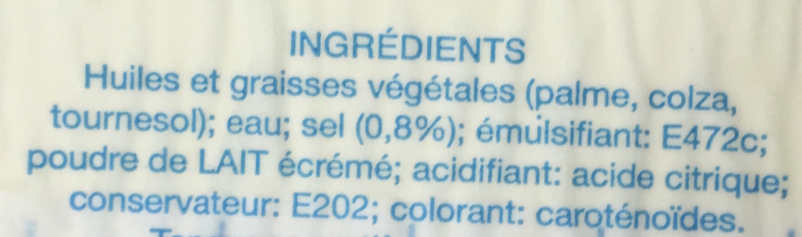 Margarine - Ingrédients