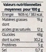 Quatre-quarts pur beurre Abricot - Nutrition facts - fr