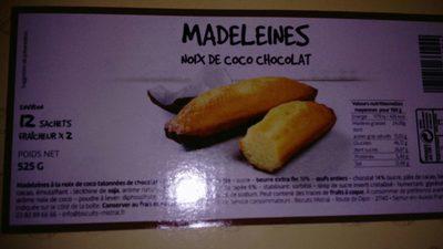 Madeleine noix de coco chocolat - Produkt