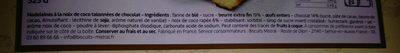 Madeleine noix de coco chocolat - Inhaltsstoffe