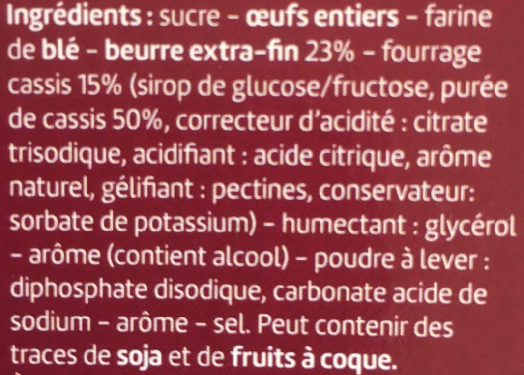 Quatre-Quarts Cassis - Ingrédients - fr