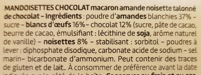 Mandoisettes Chocolat - Ingredients - fr