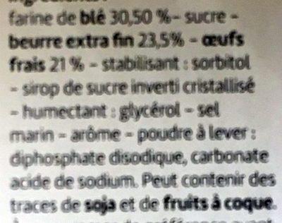 Madeleines Pur Beurre - Ingrédients