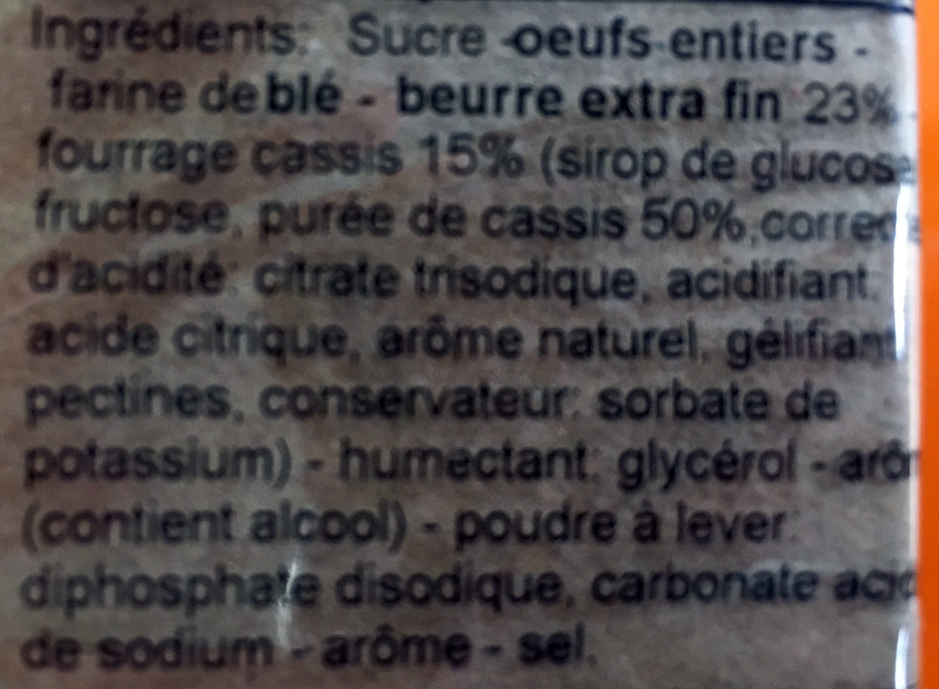 Quatre-quarts cassis - Ingredients - fr