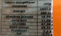 Quatre-quarts cassis - Informations nutritionnelles - fr