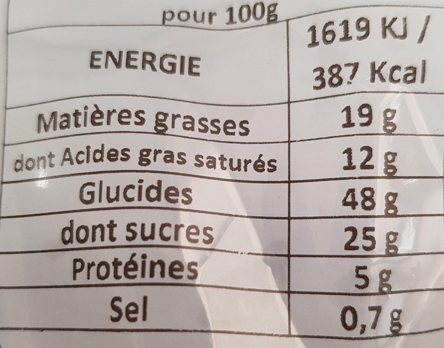 Madeleines pur beurre citron vert - Ingredients - fr