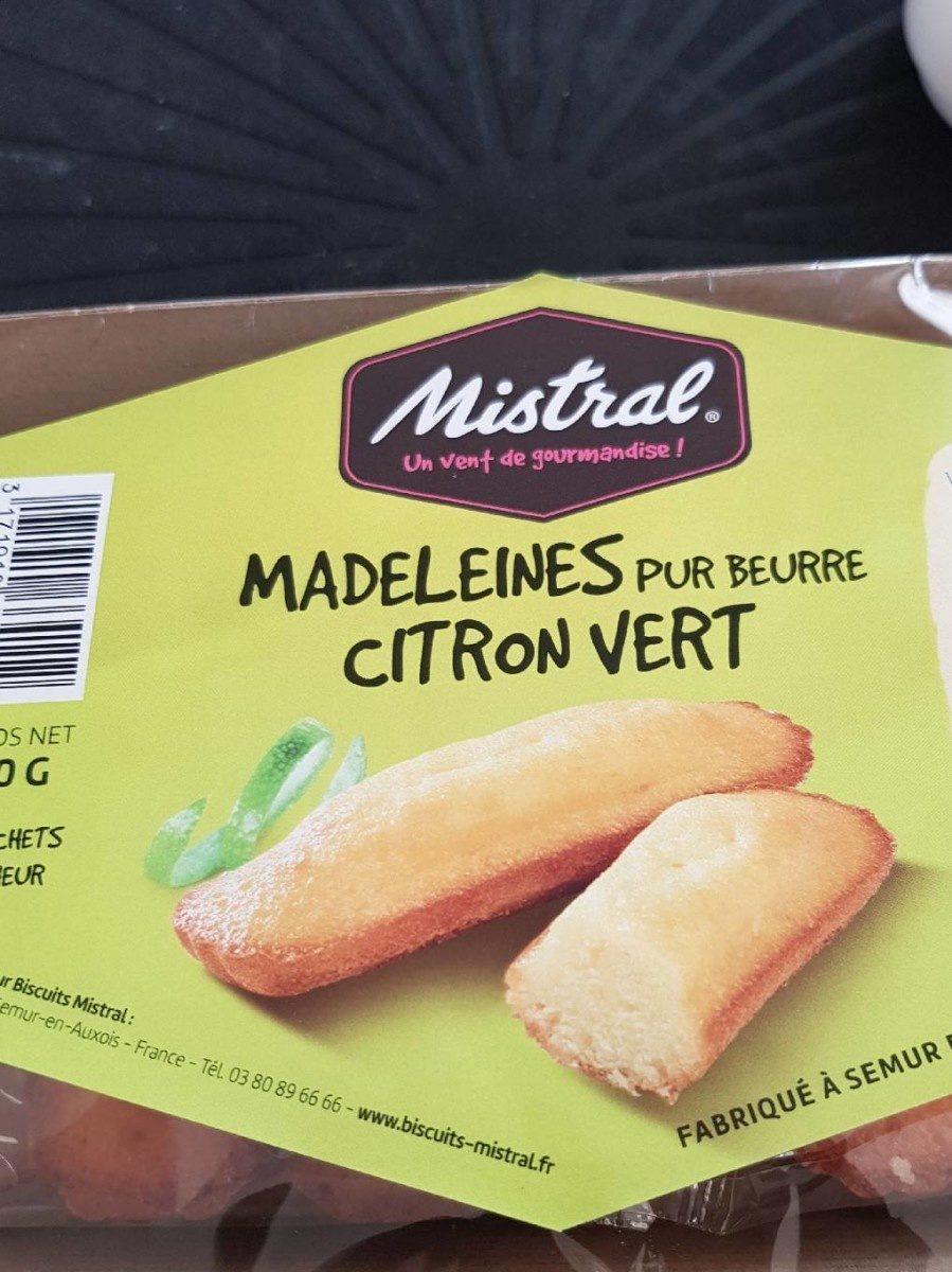 Madeleines pur beurre citron vert - Nutrition facts - fr