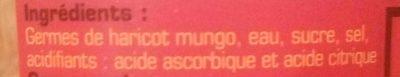Germes de haricot mungo - Ingrédients - fr