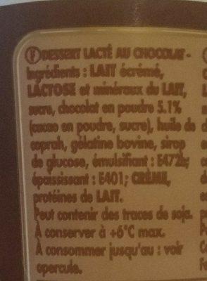Mousse au chocolat - Ingredients