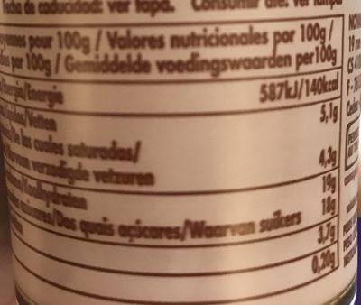 Mousse au chocolat - Nutrition facts