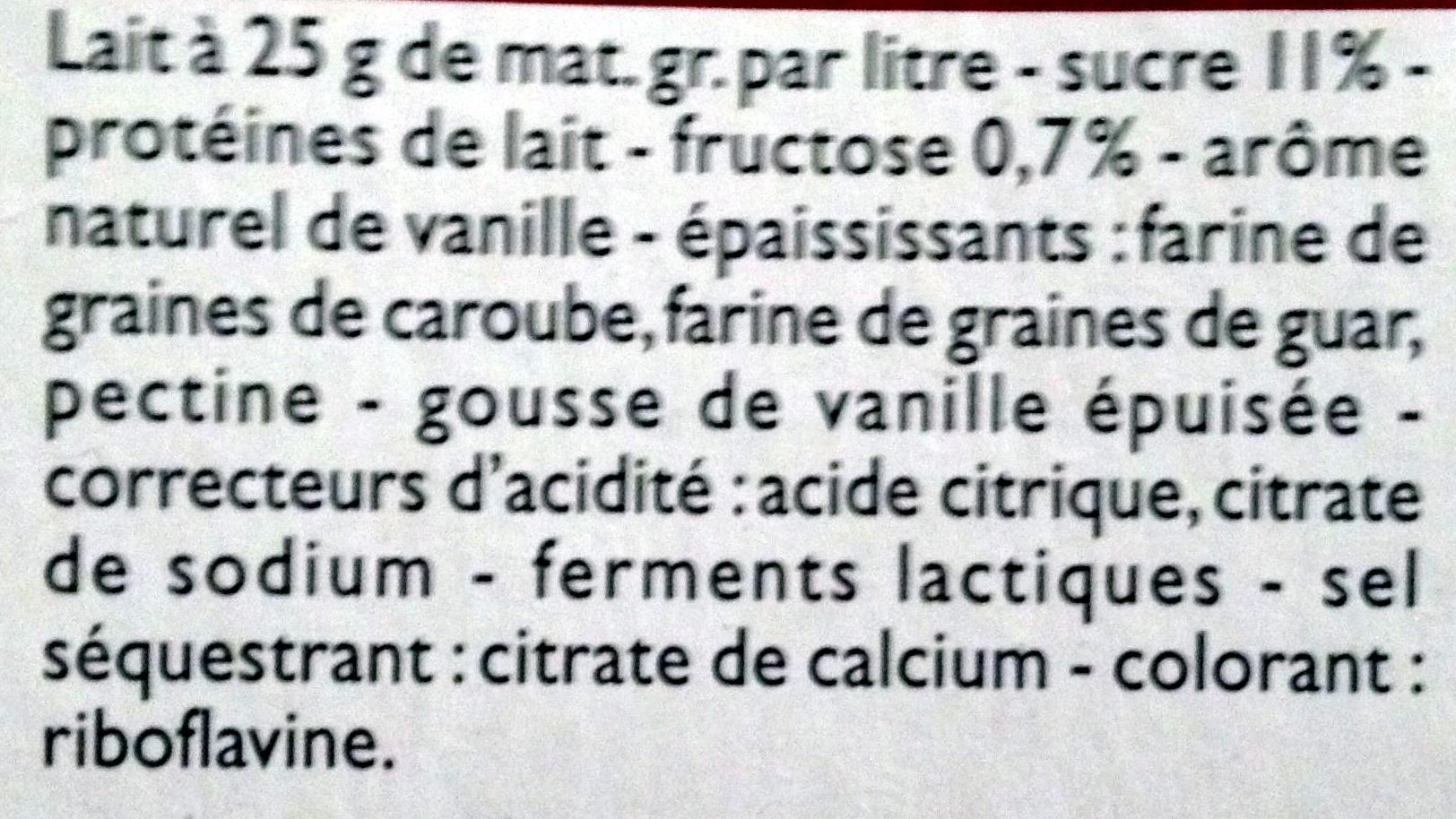 Yaourts Brassés Vanille - Ingredients - fr