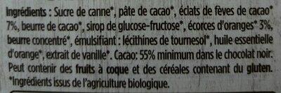 Bio orange fèves de cacao - Składniki - fr