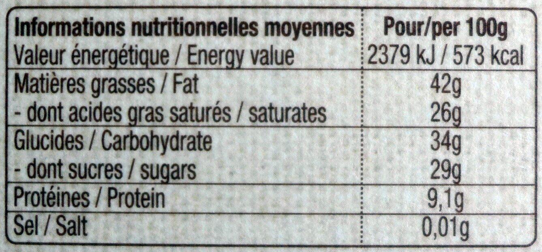 Noir 72% Équateur - Nutrition facts - fr