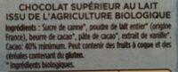 Lait Français Patissier 40% cacao - Składniki