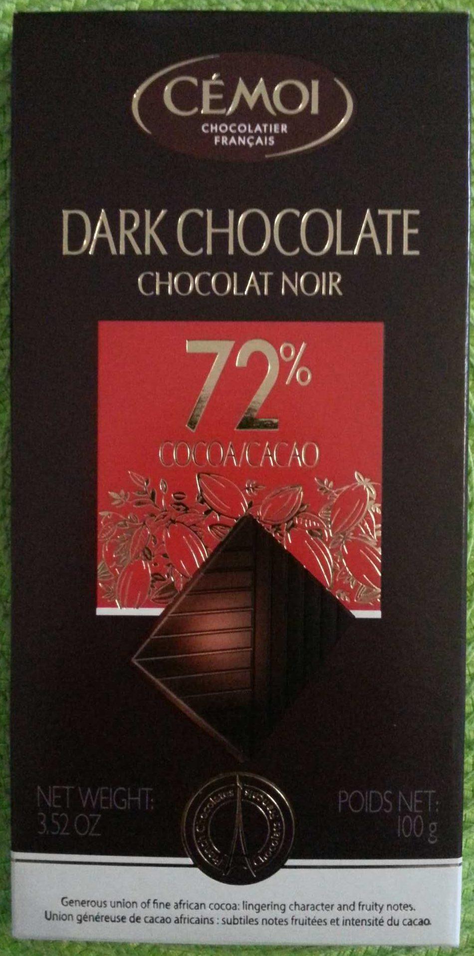 Dark Chocolate 72% - Product - fr
