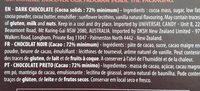 Dark Chocolate 72% - Ingredients - fr