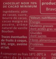 Chocolat noir 70% C'est qui le Patron ?! - Ingredients