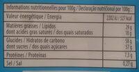 Chocolat Lait - 营养成分 - fr