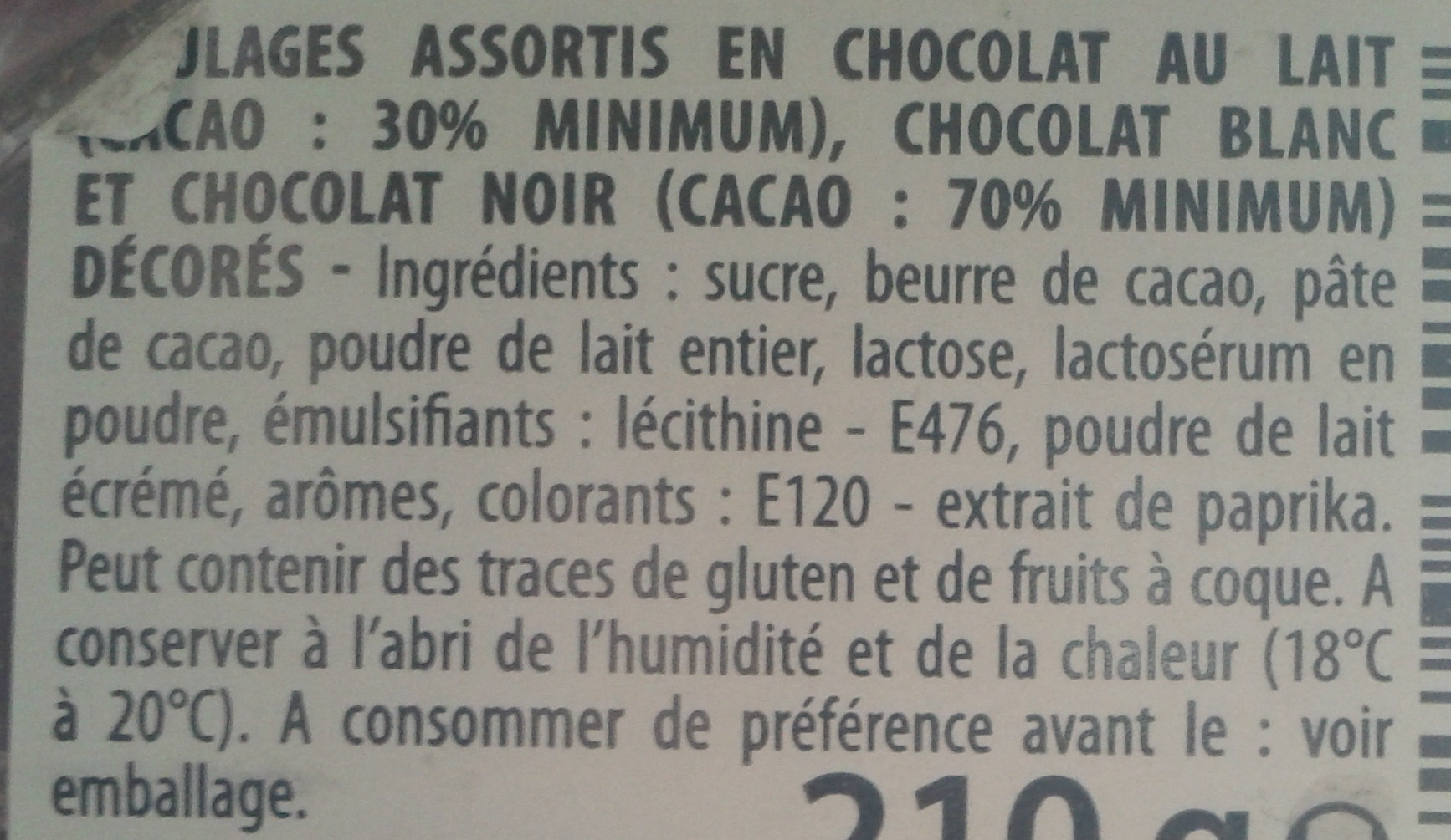Bonheur d'enfance - Ingredients