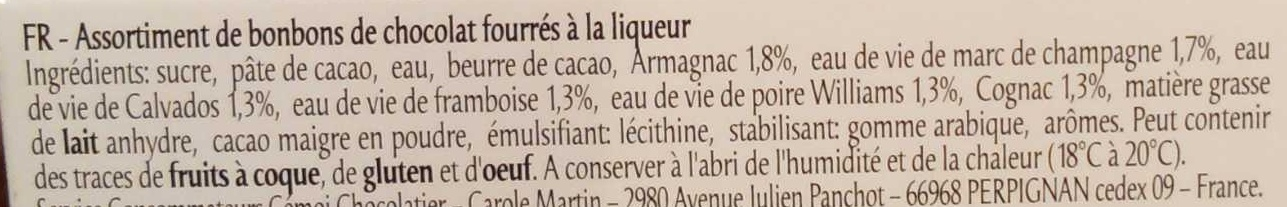 Liqueurs de France - Ingredients - fr