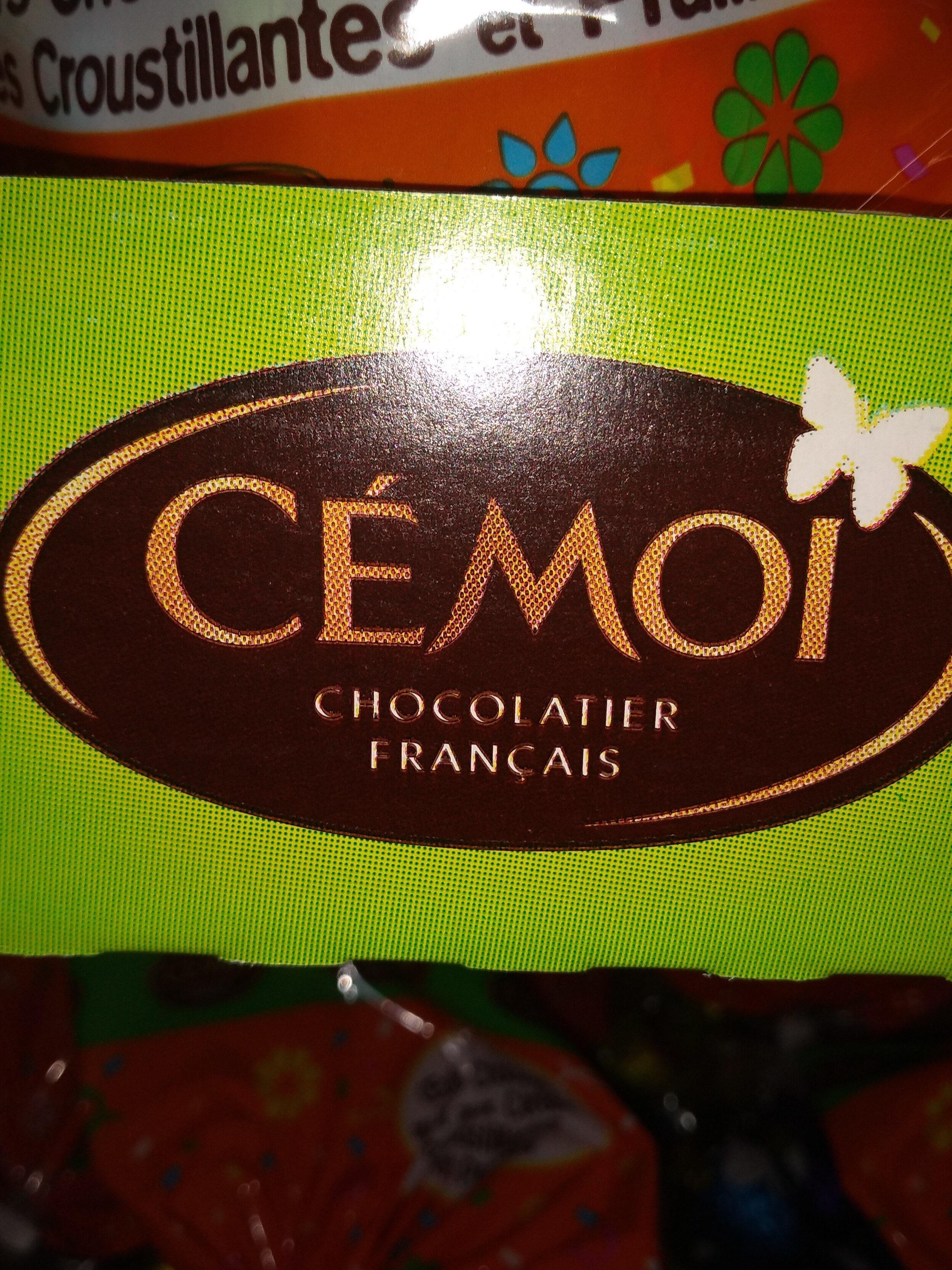Méga t'oeufs assortiment pralinés et chocolat au lait et aux céréalesCEMOI - Produit - fr