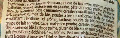 Méga t'oeufs assortiment pralinés et chocolat au lait et aux céréalesCEMOI - Ingrédients - fr