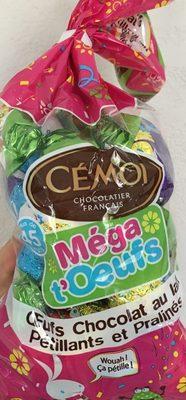 Sachets de 45 méga oeufs au chocolat au lait pétillants et pralinés - Product