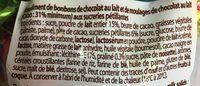 Sachets de 45 méga oeufs au chocolat au lait pétillants et pralinés - Ingredients