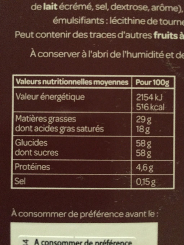 Bonbons œuf praliné caramel - Nutrition facts