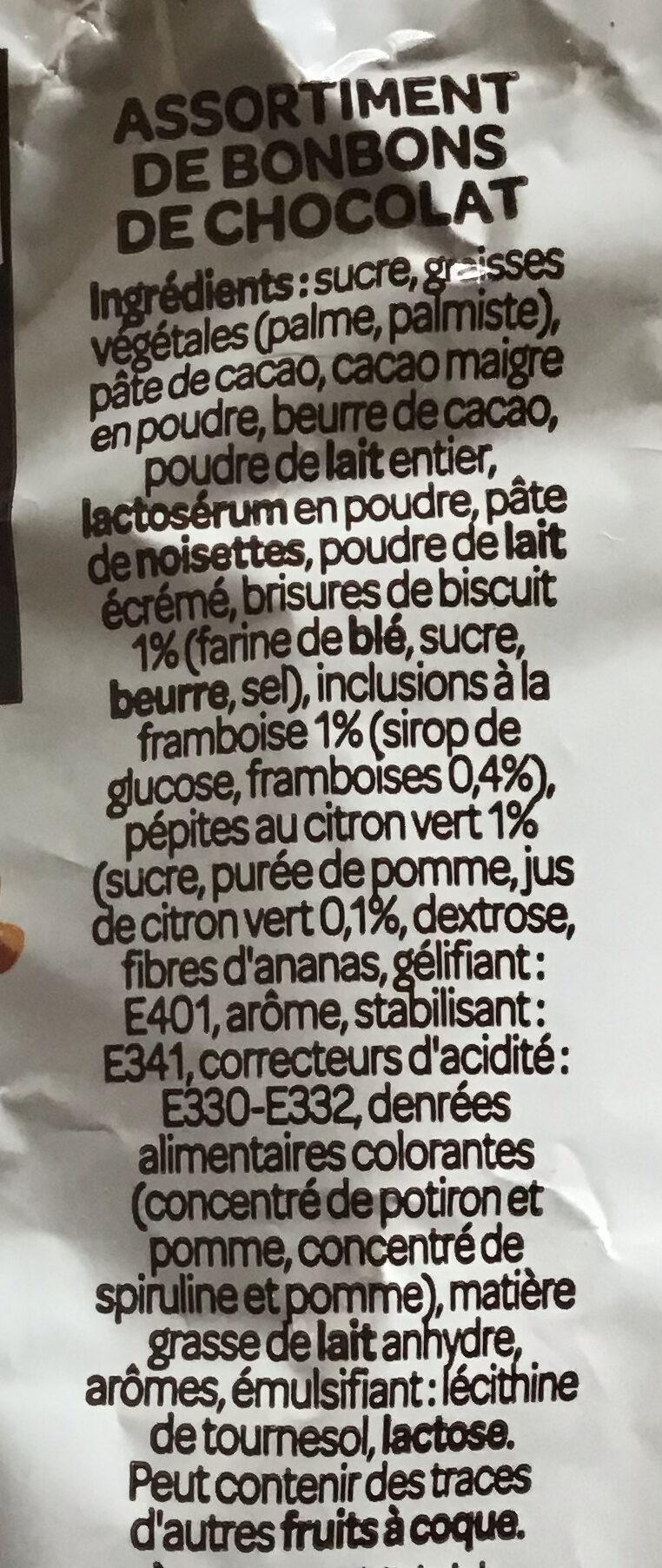 Assortiment fruité noir & lait - Ingrédients - fr