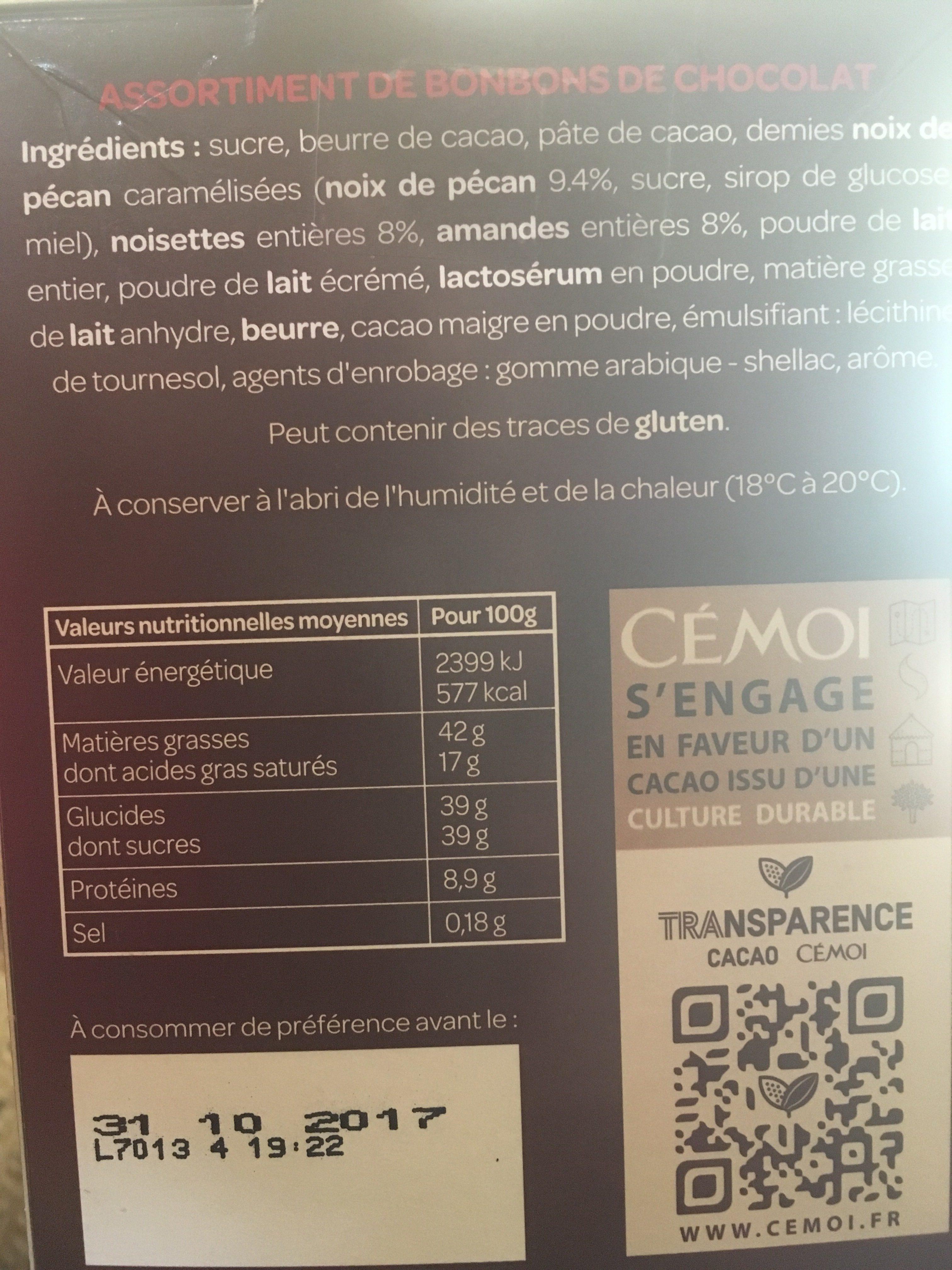 Cémoi - Ingredients
