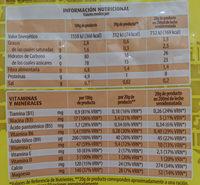 Cacao Instantáneo - Información nutricional
