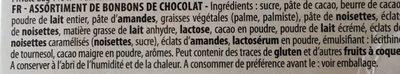 L' Atelier Des Gourmets, Assortiment De Fin Chocol, Le Cube De 180 gr - Ingrediënten - fr