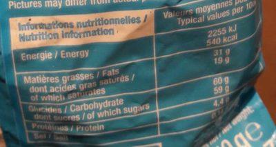 Boules Praliné Chocolat au Lait - Informations nutritionnelles