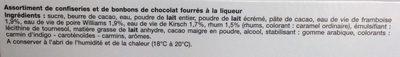 Chardons aux 4 Liqueurs - Ingrédients - fr